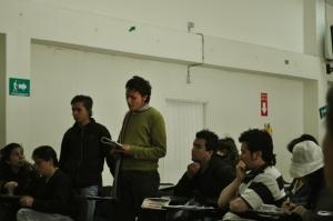 asistentes a la minga en Bogota