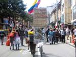 hombre en bicicleta.Bogotá