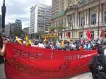 uni libre, polo, pcc, marcha de unidad contra la impunidad.Bogotá